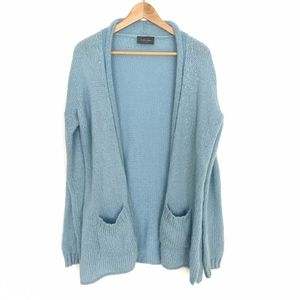 Wooden Ships Blue Open Front Cardigan